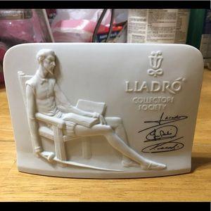 Lladro Collectors Society 1985 Don Quixote plaque